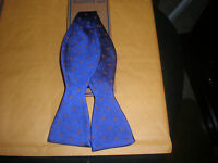 Wembley Men's Bow Tie Blue With Red White Design