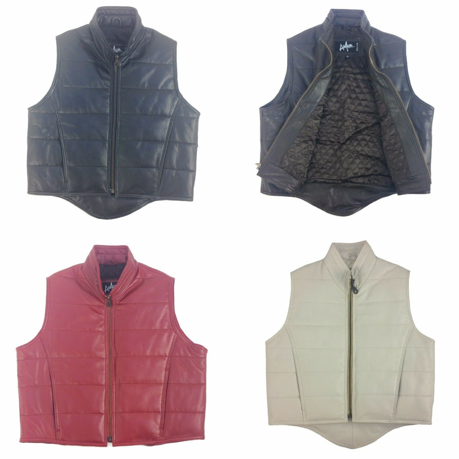 Anjum Quilted Sheep Echo Leather Women  Romy Vest