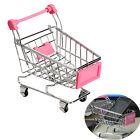 Mini Supermarket Handcart Shopping Utility Cart Mode Storage Trolley Pink Gift