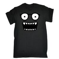 Funny Monster Face T SHIRT JNR funny joke glasses smiley cartoon tee comic