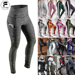 Womens-Sports-YOGA-Workout-Gym-Fit-Leggings-Pants-PUSH-UP-Athletic-Clothes-A180
