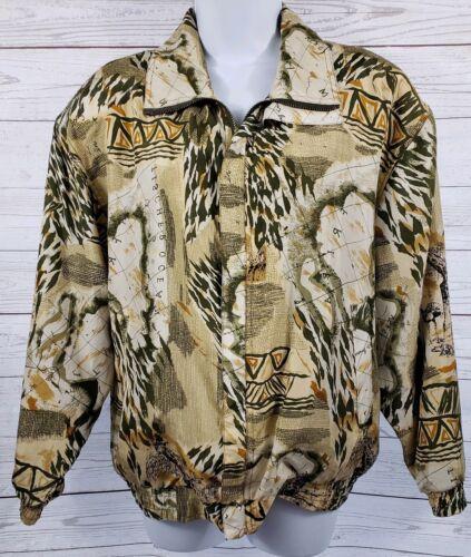 Coaco 100% Silk Small Jacket Multi Color Full Zip… - image 1