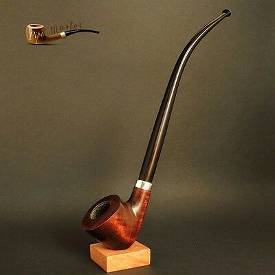 """HAND MADE TOBACCO SMOKING PIPE CHURCHWARDEN  Lord  Hobbit  9.8 """"  PEAR   Brown"""