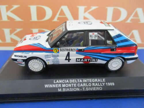 Die cast 1//43 Modellino Auto Lancia Delta Int Biasion Rally Monte Carlo 1989 M