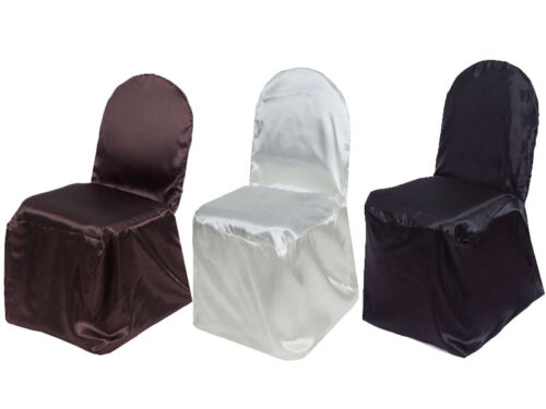 50 pcs SATIN BANQUET CHAIR COVERS Wedding Party Reception Discounted Decorations