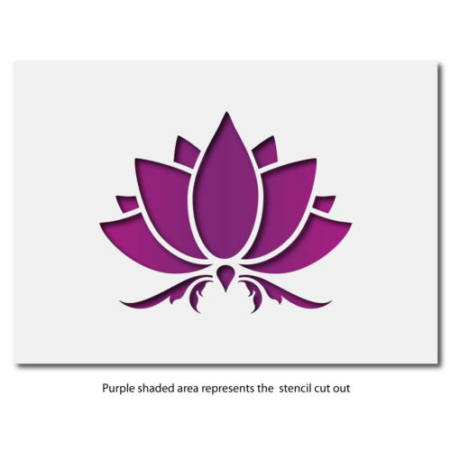 Mini or Small Lotus Flower Template by CraftStar Lotus Flower Stencil