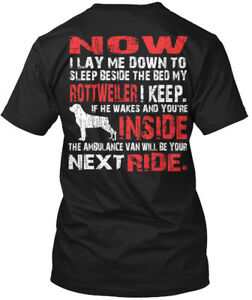 Rottweiler-Security-Protected-By-Now-I-Lay-Me-Down-Hanes-Tagless-Tee-T-Shirt