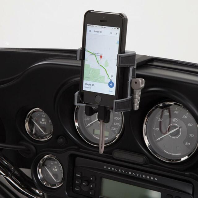 Ciro Smartphone Holder w// Charger for Harley Fairing 96-13 FLHT FLTR FLHX FLHR