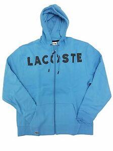 cbcf631deb3f Lacoste Flight Blue Black Fleece Tennis Full-Zip Hoodie w  Lacoste ...
