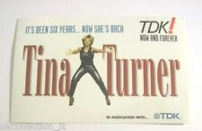 ADESIVO anni '90 vintage / Old Sticker TINA TURNER european tour 1996 (cm 12x7)