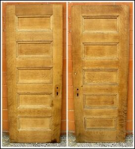 Antique-5-Panel-Oak-Veneer-Solid-Core-Ash-Interior-Door-Sandblasted-Stain-Ready