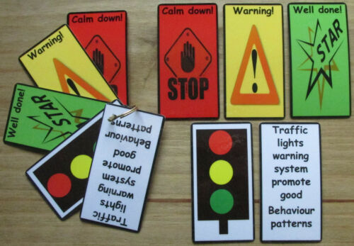 Warning system NEW DESIGN Visual flash cards strips ASD~AUTISM~SEN~ Childcare~