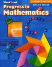 Progress in Mathematics by William H. Sadlier Staff (2006, Hardcover, Teacher's…