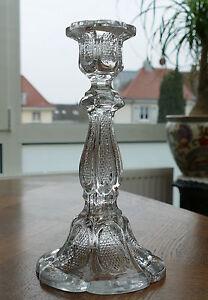 1 Großer Pressglas - Kerzenleuchter Art Deco Um 1930 - Klares Pressglas !!! BerüHmt FüR AusgewäHlte Materialien, Neuartige Designs, Herrliche Farben Und Exquisite Verarbeitung