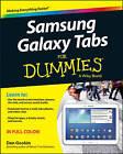 Samsung Galaxy Tabs For Dummies by Dan Gookin (Paperback, 2014)