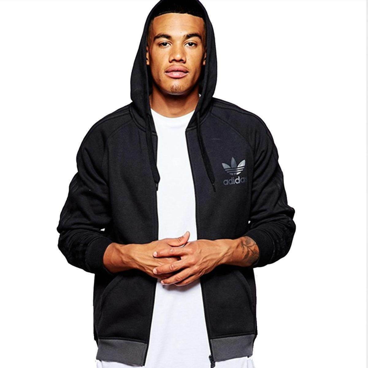 c6c7965e25dc adidas Originals SPO Trefoil Mens Full Zip Black Hoody Medium Ab7588 ...