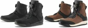 Mens-Icon-Black-Mid-Calf-Leather-Patrol-2-Motorcycle-Riding-Street-Racing-Boots