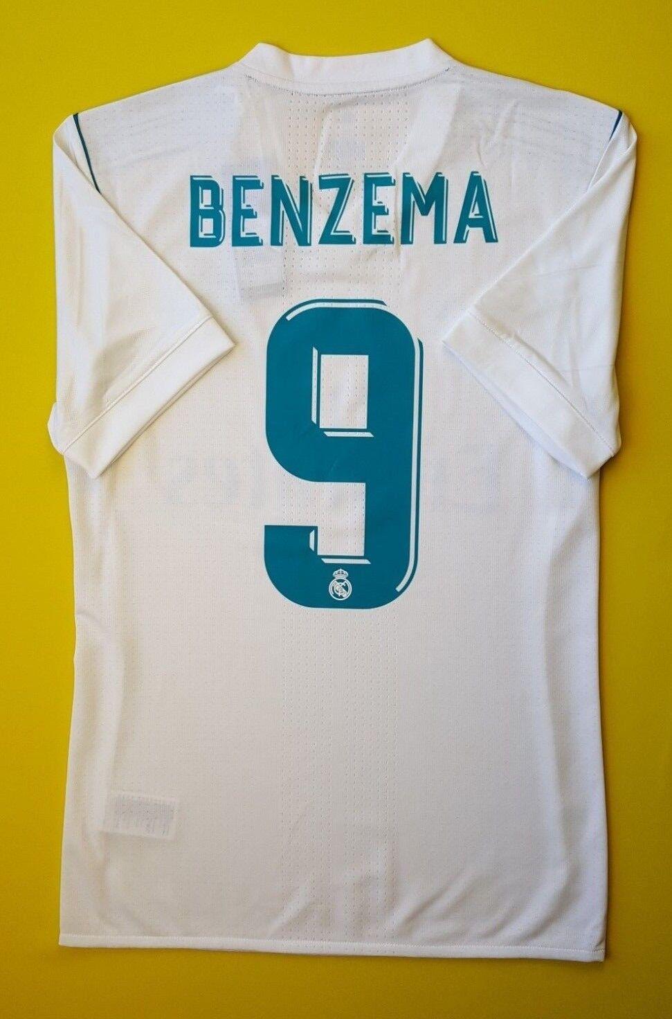 5+ 5 al Real Madrid Jersey Camisa Pequeña B31097 Adidas Adizero Auténtico