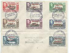 FALKLAND IS  DEPENDENCIES SOUTH GEORGIA SGB1-8 THE 1944-5 SET ON COVER
