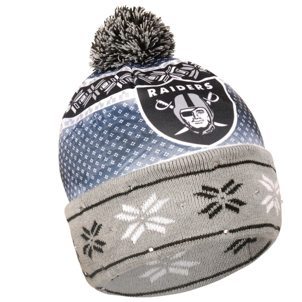 Oakland Raiders Forever Collectibles NFL UGLY Light Up Beanie