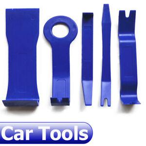 5-un-Plastico-Azul-Coche-Radio-del-Panel-de-Control-de-Puerta-Ribete-De-Audio-SUV-Pry-Abierta