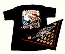 XL Hooters Uniform Shirt from ALL Harley Bike Rally Bandanna USA FLAG OOP