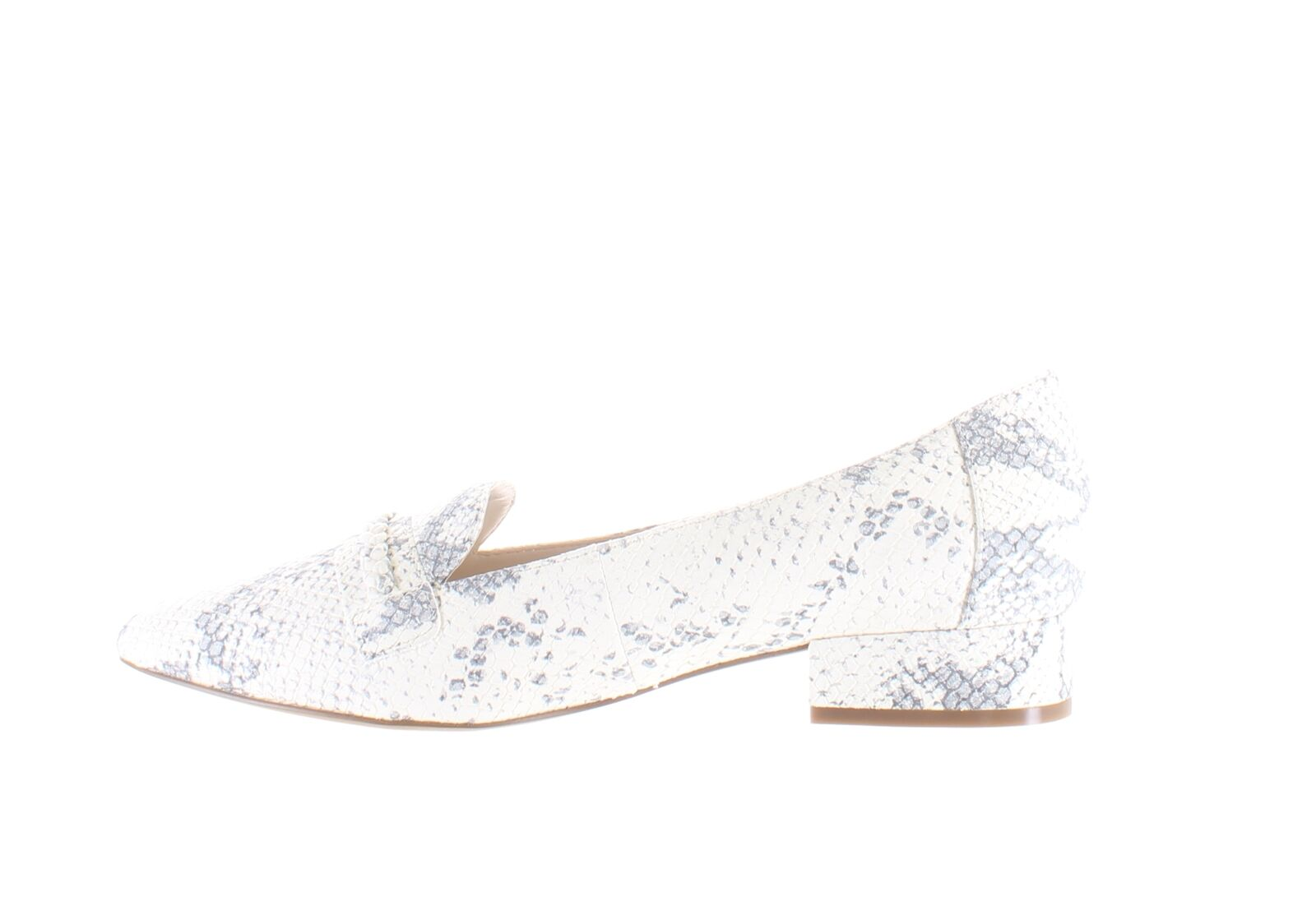 Cole Haan Womens Mabel Chalk Python Print Leather Loafers Size 8 (2099345)