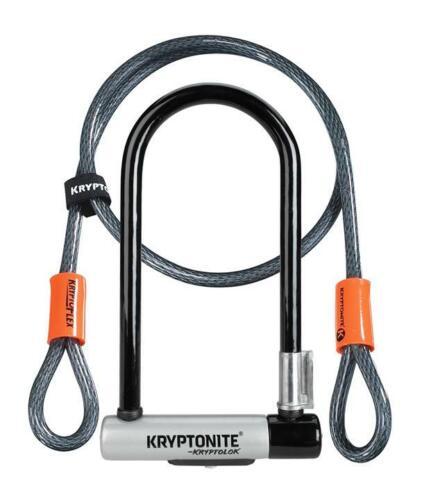 """Kryptonite KryptoLok U-Lock 4 x 9/"""" Combo 4/' Cable Bracket Bike Bicycle Security"""