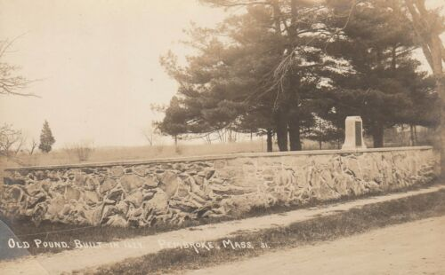 OLD POUND, BUILT IN 1624. PEMBROKE, MASS.-RPPC-CIRCA 1910's DB REAL PHOTO 31