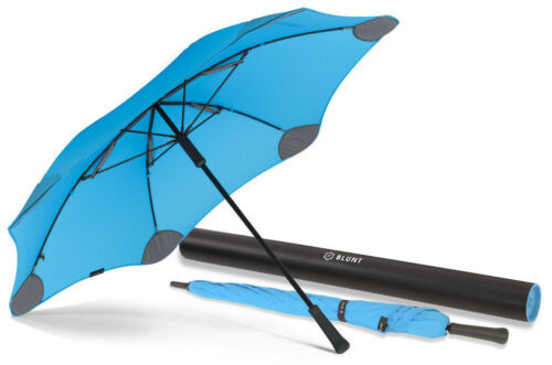 2 YEAR Warranty BLUNT Classic BLUE Large Storm Resistent Stick Umbrella