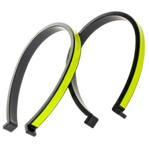 Pair Bike Clips Bicycle Cycle reflective Black Trouser Protective Cycling Clips