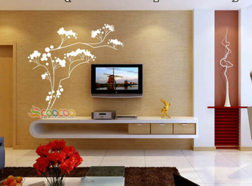 """Wall Decor Decal Sticker Removable flowe tree 6A DC0264 43/"""" H"""