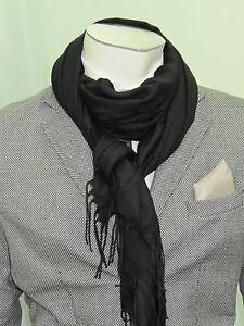 design di qualità d29c3 bddf8 Dettagli su sciarpa pashmina lana wool unita fashion moda uomo donna super  prezzo made italy