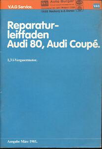 Audi-80-Coupe-Reparaturleitfaden-1-3-Vergaser-1981-3-81-Reparaturanleitung-Pkw