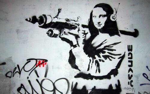 Australian Seller BANKSY Graffiti Street Art Wall Decor Print MONA BAZOOKA