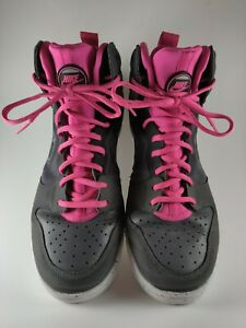 Nike-Dunk-Free-Women-039-s-Basketball-Shoes-599466-002-Gray-and-Pink-Size-8-1-2
