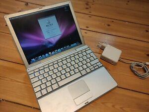 """Apple PowerBook G4 12"""" 1,33GHz 1,25GB Ram 60 GB HDD WiFi 10.5.8"""
