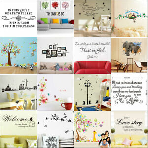 Quotes-Wall-Stickers-Family-Kids-DIY-Removable-Vinyl-Decal-Mural-Home-Decor