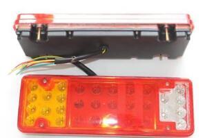 LED Paar 46 Led Rückleuchten Rücklichter LKW Anhänger Indikator 24V Neu Auto 2