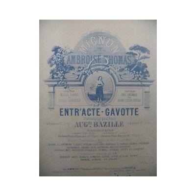 Bazille Auguste Niedlich Piano 19. Jahrhundert Partitur Sheet Music Score
