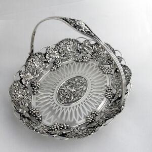 Vtg 925 Sterling Silver Large Openwork Ornate Christmas Ornament