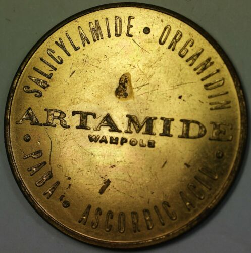 Rheumatic Ascorbic Acid Advertising BU Brass Medal Artamide Anti-Arthritic