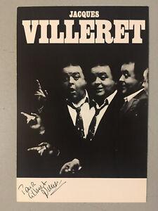 Autographe original Carte dédicacée Jacques Villeret