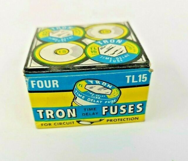 Pack of 4 Bussmann TL-15 Time Delay Fuse TL15
