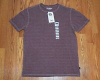 Mens Lee Premium Select Wine Texture Striped Henley S/s Shirt Size S Small