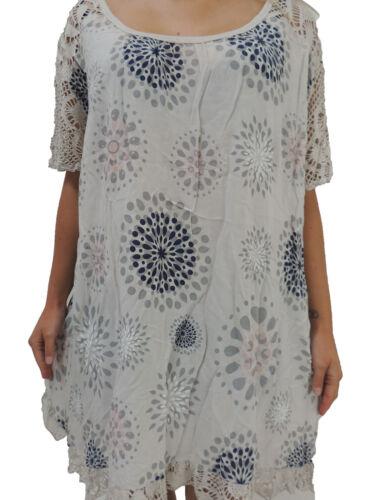 Damen Blusen Shirts Größe 46 48 50 52 54 T Shirt Übergröße Blusen Tunika Muster