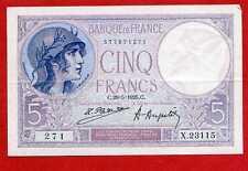 (Ref: X.231)  5 FRANCS VIOLET 29/05/1925 (SPL) RARE