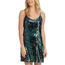 Aqua Womens Multi Sequined Striped Party Mini Skirt XS BHFO 3748