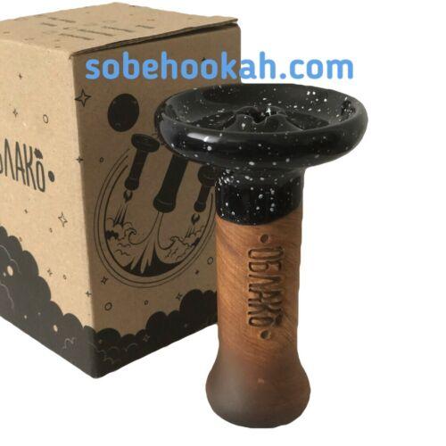 shisha Water Pipe Bowl head Cloud Phunnel Small Glaze Black Oblako hookah