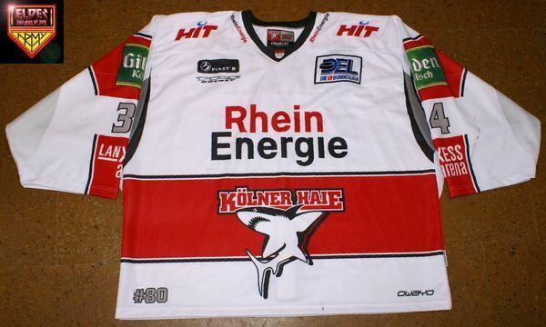 Kölner Haie * 09/10 * No. 34 * Norm Maracle * white/away (4 game/3 backup/2 pre)